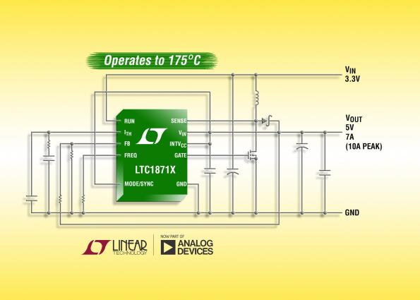 Boost, flyback or SEPIC controller for high-temperature, 175C operation