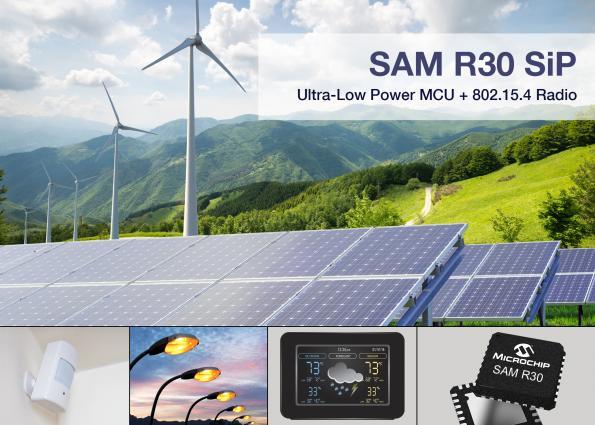 SiP bundles Microchip/Atmel MCU plus sub-GHz wireless transceiver