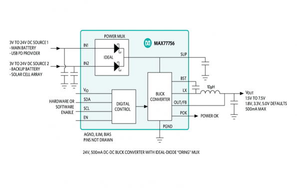 500ma step dc integrates backup battery switching