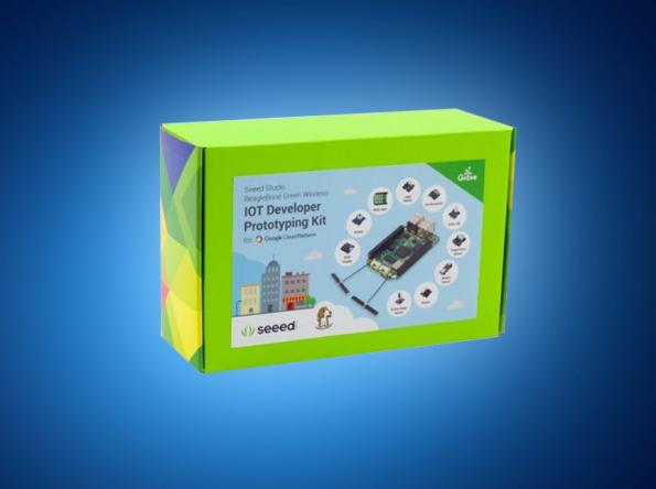 Seeed's BeagleBone Green Wireless IoT prototyping kit, in distribution