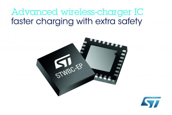 "ST's wireless charging IC supports ""faster-Qi"" standard"