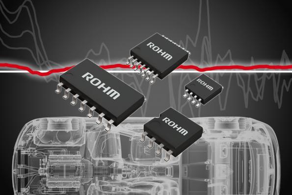 "Noise-tolerant op-amps for automotive sensing - ""a first"", says Rohm"