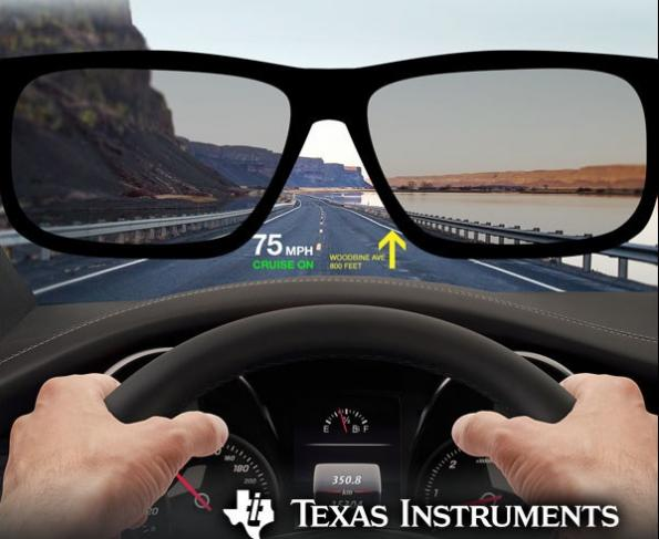 TI's micro-mirror chips for automotive head-up display projection