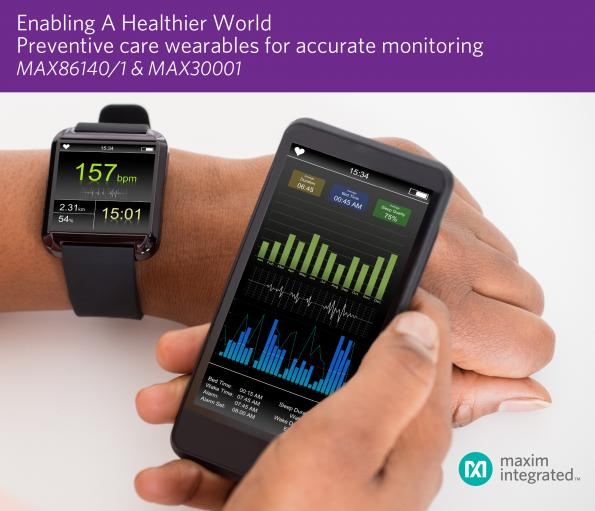 Maxim aims for clinical-grade vital signs monitoring with pulse sensor/AFE chips