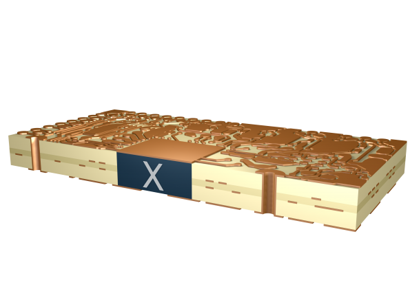 "High density printed boards enabled by ""X-in-Board"" technology"