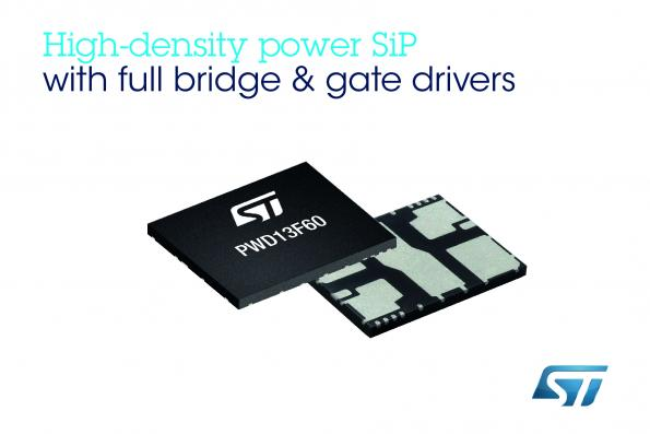 600V full-bridge system-in-package integrates MOSFETs, gate drivers & protection