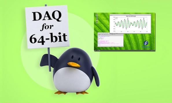 """Accel64 for Linux"" software supports 64-bit data acquisition processors"
