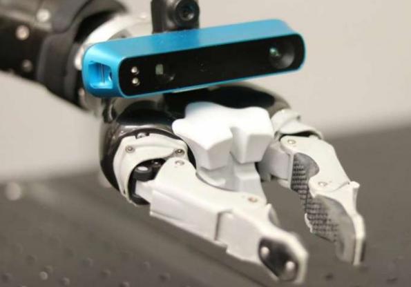 Hand-mounted depth camera improves robots' situational awareness