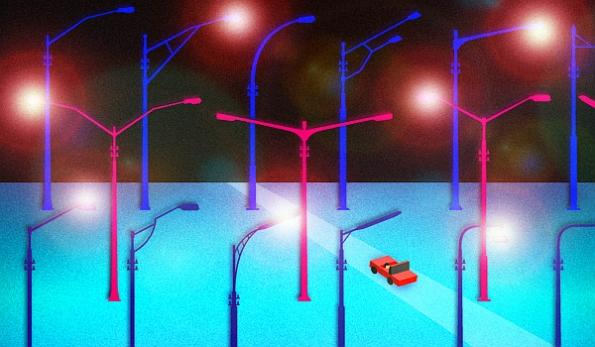 Car-mounted cameras, sensors monitor urban streetlights