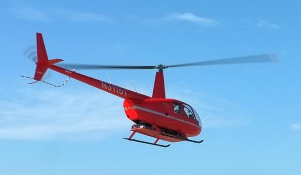 Battery-powered manned helicopter takes flight
