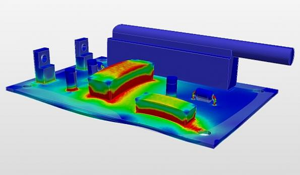 Thermal management with cloud-based simulation