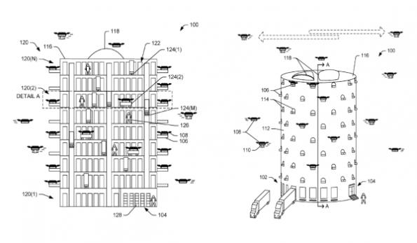 Amazon drone tower described in patent application