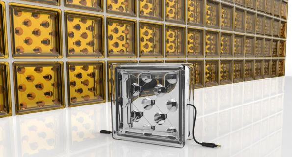 Startup embeds solar cells and focusing optics into construction glass blocks
