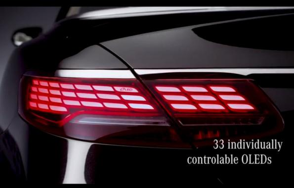 OLED taillights for the show: Mercedes-Benz' video teaser