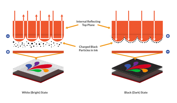 Full colour video-capable electrophoretic displays go East