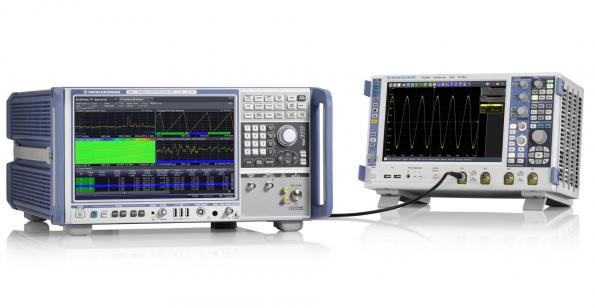 Spectrum analyzer has guaranteed specs 5GHz analysis bandwidth