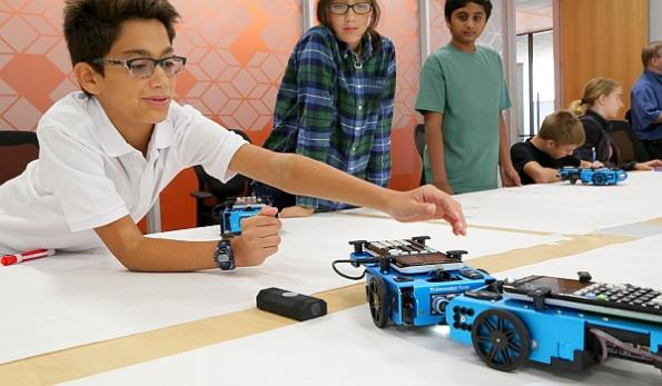 Educational TI calculator-controlled robot 'puts STEM into motion'