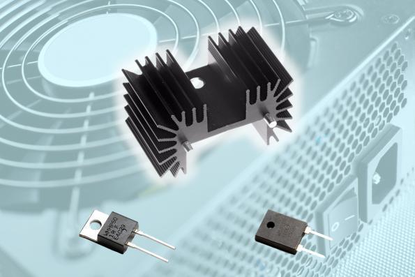Lightweight PCB-mounted heatsink targets power resistors