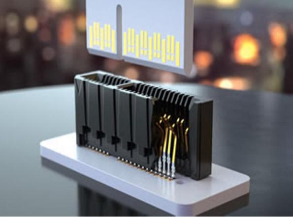 0.80 and 1.00mm pitch edge card sockets support up to 56Gbps PAM4