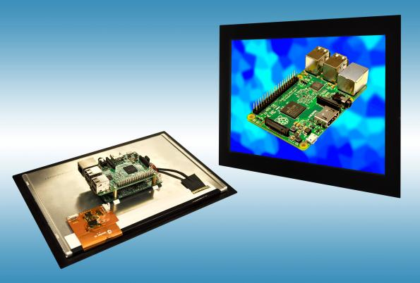 "Raspberry Pi-ready 10.1"" PCAP touch screen kit"