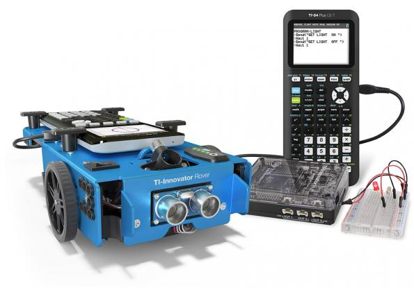 Calculator-controlled robotic car for education