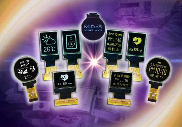 Micro and round OLED displaysfor hand-held and wearable industrial equipment
