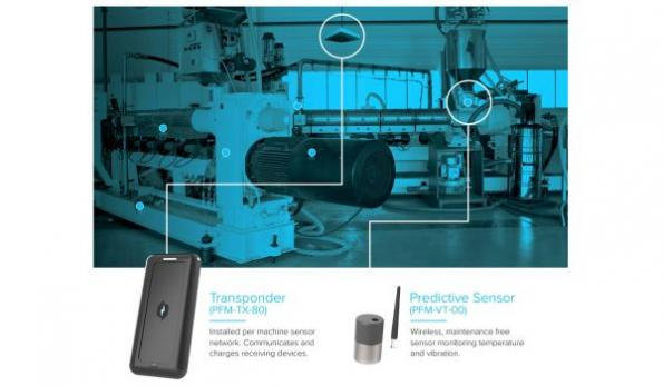 Wireless powered predictive maintenance sensors cut unplanned downtime