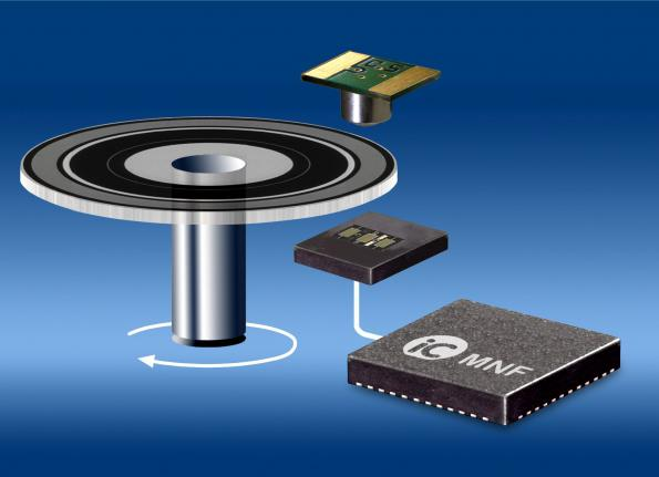 High-resolution Vernier encoder supports angle resolutions up to 26 bit