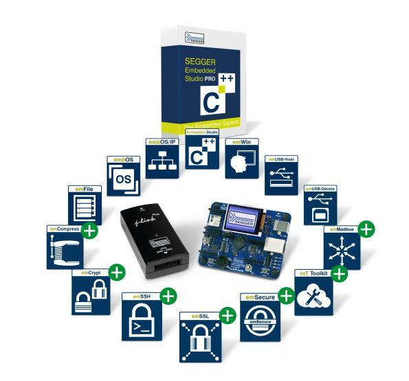 Embedded Studio PRO adds IoT and security components