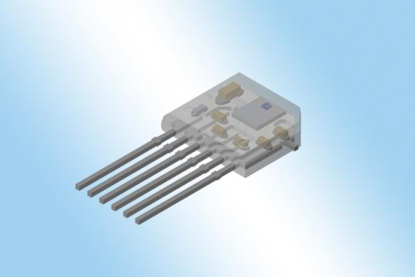 TMR angle sensor in a TO-6 package for PCB-less applications