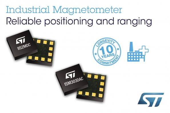 Industrial magnetometer and eCompass allows precision motion sensing
