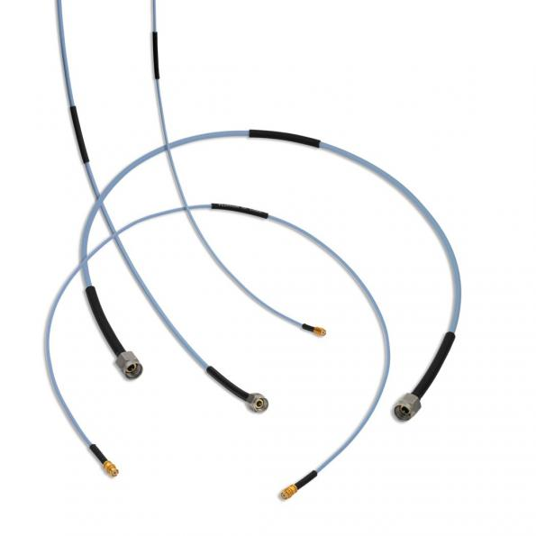 Coaxial cable assemblies with superior phase performance
