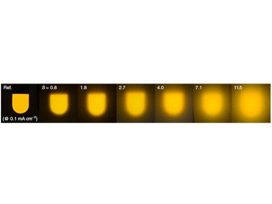 Lens-free OLEDs as efficient as inorganic LEDs