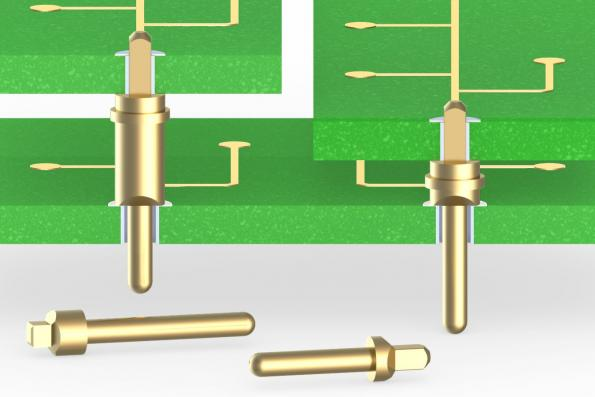 Press-fit PCB pins for plated-through holes