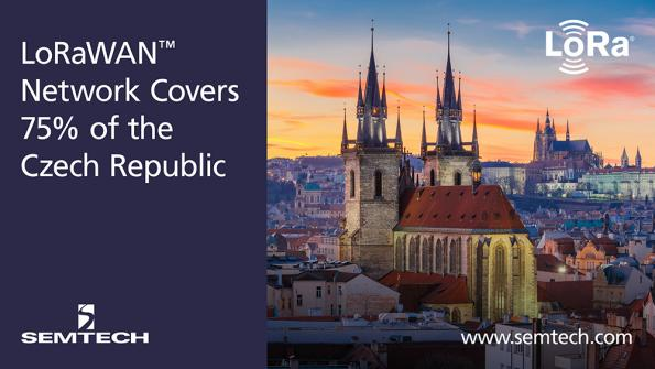 Semtech and CRA cover 75% of the Czech Republic with LoRaWAN