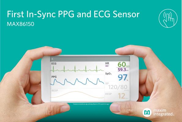 Synchronized PPG and ECG biosensor module targets mobile devices