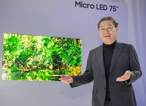 Samsung releases consumer MicroLED TV, 75-inch wide