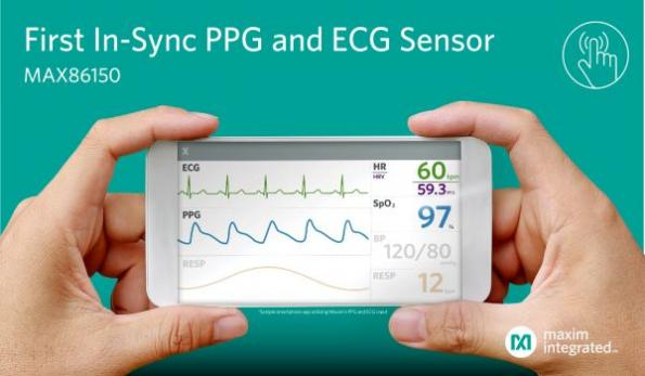 First integrated PPG, ECG biosensor module for mobile devices