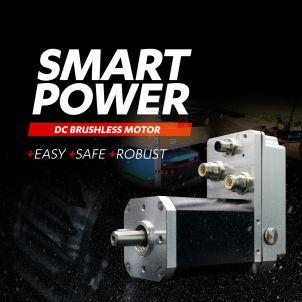 Brushless 600W motor with CANopen interface and built-in safety