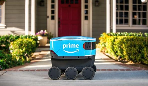 Amazon field testing sidewalk robot delivery system