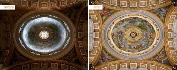 St. Peter's basilica seen in new light with LEDs