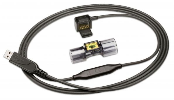 Mass flow meters evaluation kit works from USB port