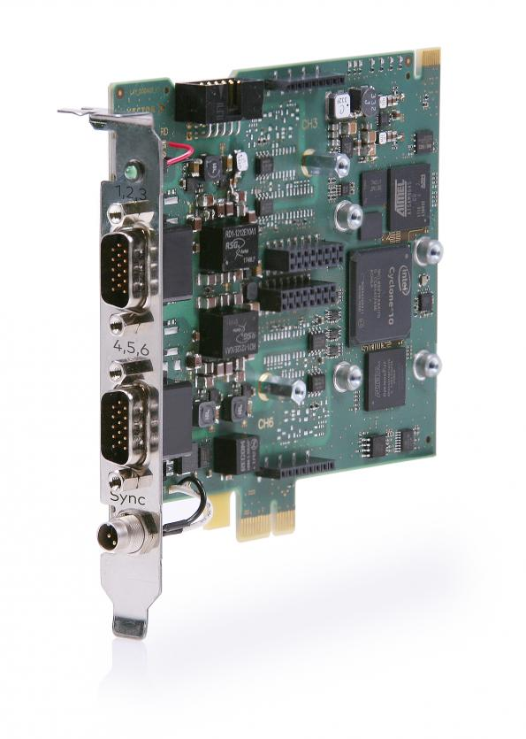 Board connects CAN (FD), LIN networks to PCIe