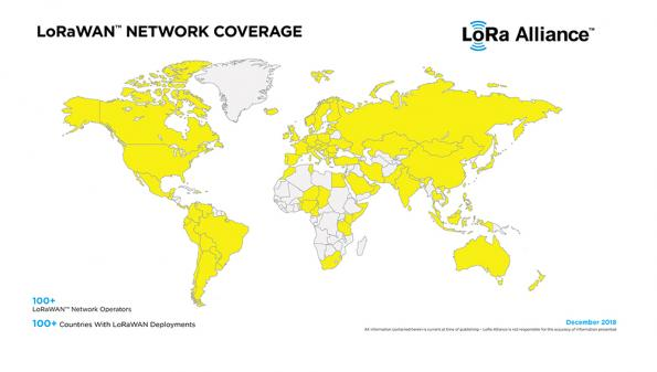 LoRaWAN 'sees' growth of over 60 percent in 2018 covering nearly 100 countries