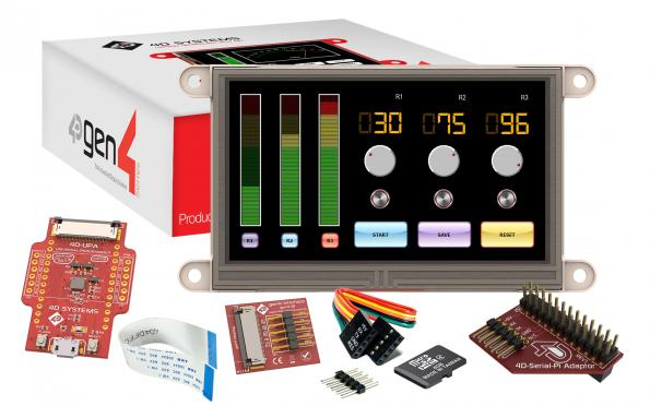RS Components adds Gen4 series LCD modules from 4D systems