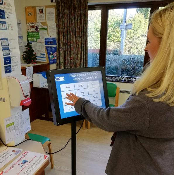 Speeding check-in at doctors' surgeries with touch screens