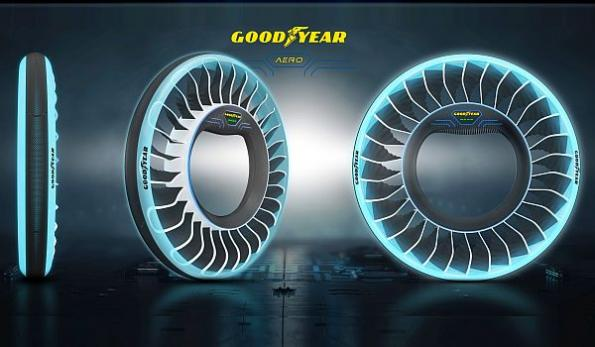 Tire doubles as propeller for flying cars