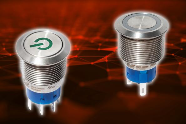 Vandal-resistant switches are sealed for use in hostile environments