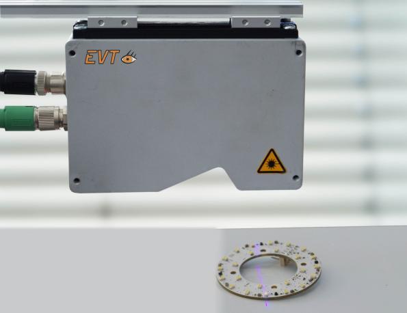 Laser line 3D sensor operates at up to 100kHz at full measurement range
