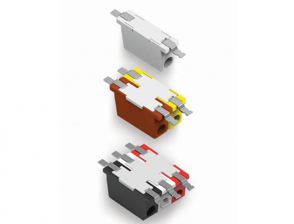 Releasable poke-in connectors for LED lighting